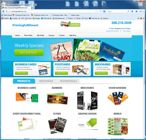 Printing E-Commerce Website Solution